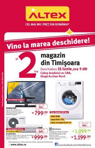 Marea DESCHIDERE ALTEX - al 2-lea magazin din Timisoara - catalog 11 - 18 iunie 2015