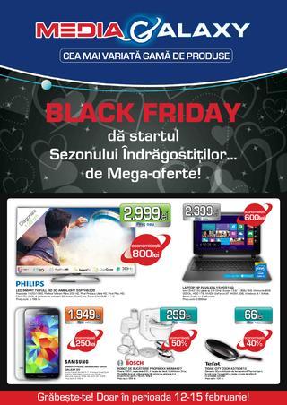 Media Galaxy - Black Friday da startul Sezonului Indragostitilor 12-15 februarie 2015