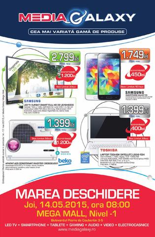 Media Galaxy - catalog DESCHIDERE la MEGA MALL 14 mai 2015