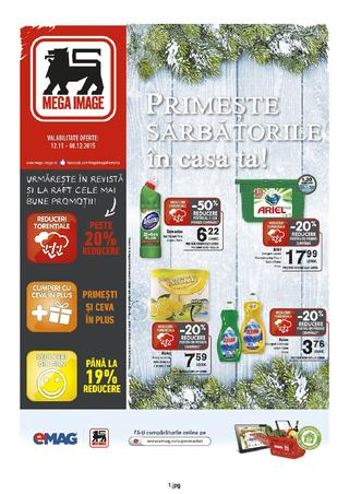 Mega Image catalog Primeste Sarbatorile in casa ta - 12 Noiembrie - 8 Decembrie 2015
