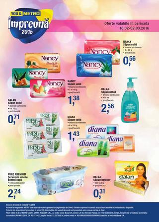 METRO catalog Cosmetice - 18 Februarie - 2 Martie 2016