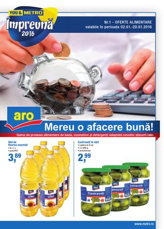 METRO catalog Alimentare ARO - 2-20 Ianuarie 2016