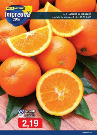 METRO Catalog Alimentare - 21 Ianuarie - 3 Februarie 2016