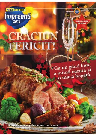 METRO catalog Craciun Fericit - 26 Noiembrie - 31 Decembrie 2015