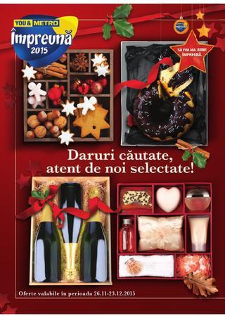 METRO catalog Cadouri de Sarbatori - 26 Noiembrie - 23 Decembrie 2015