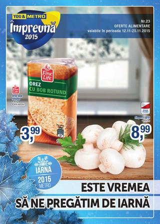METRO catalog oferte alimentare - 12-25 Noiembrie 2015