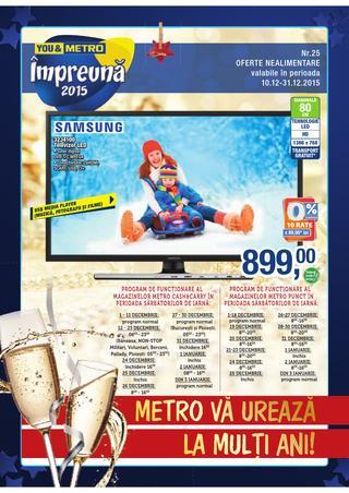 METRO catalog va Ureaza la Multi ani Nealimentar  - 10-31 Decembrie 2015