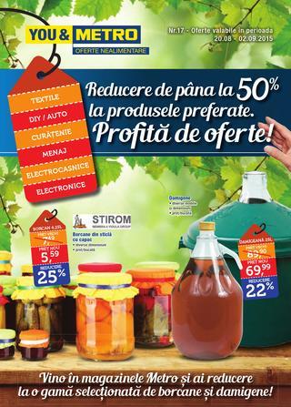 Metro catalog Profita de oferte august 2015