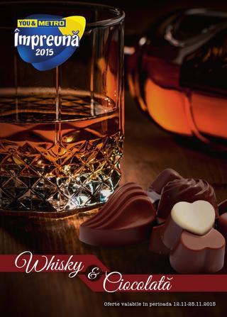 METRO catalog whisky si ciocolata - 12-25 Noiembrie 2015