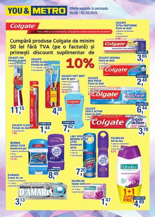 Metro catalog colgate septembrie 2015
