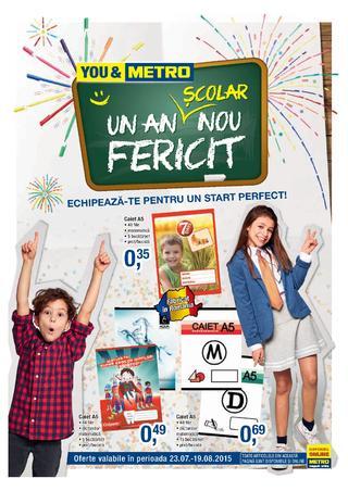 Metro catalog - pregatiri pentru scoala 23 iulie - 19 august 2015