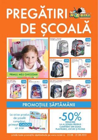 Noriel catalog pregatiri de scoala 25 - 31 august 2015 !