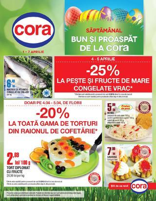 Oferte CORA valabile de la 1 aprilie 2015