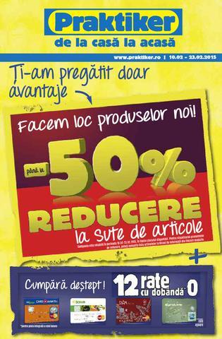 Pana la 50 % REDUCERE  la Praktiker 10 - 23 februarie 2015