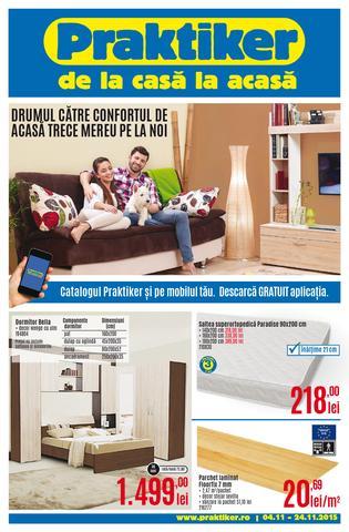 PRAKTIKER catalog Drumul Catre Confortul de Acasa Trece Mereu pe la Noi - 4-24 Noiembrie 2015