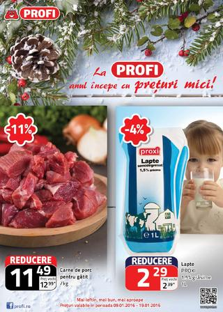 Profi catalog La Profi anul incepe cu preturi mici! -  9-19 Ianuarie 2016