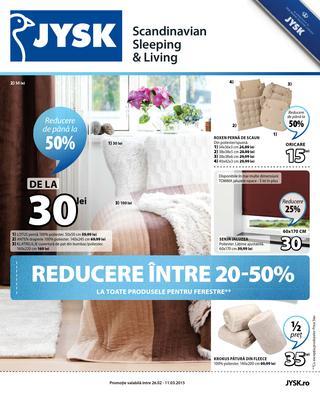 Reduceri JYSK  26 februarie - 11 martie 2015