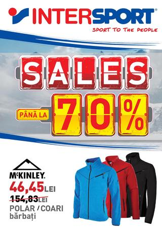 Sales pana la 70 % la InterSport intre 28 ianuarie  - 29 februarie 2016