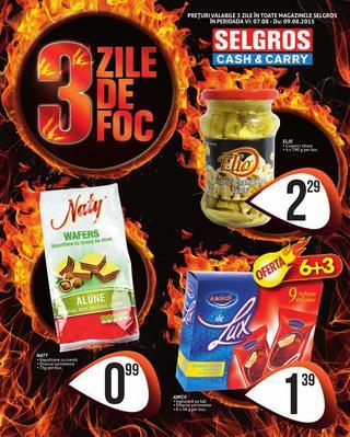 Selgros catalog 3 zile de foc august 2015