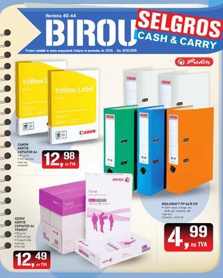 Selgros catalog birou octombrie 2015