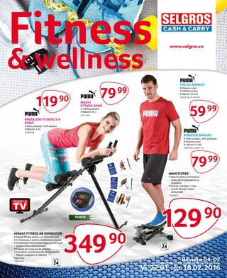 Selgros catalog Fitness & wellness 22 Ianuarie - 18 Februari 2016