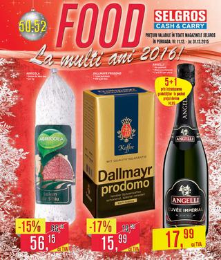 Selgros catalog FOOD La multi ani 2016 - 11-31 Decembrie 2015