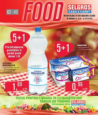 Selgros catalog FOOD - 16 Octombrie - 29 Octombrie 2015