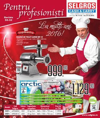 Selgros catalog Gastro Non FOOD La multi ani 2016 - 11-31 Decembrie 2015