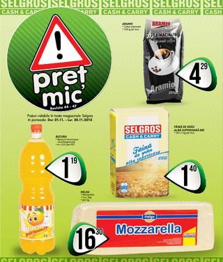 Selgros catalog Pret Mic Food - 29 Octombrie - 29 Noiembrie 2015
