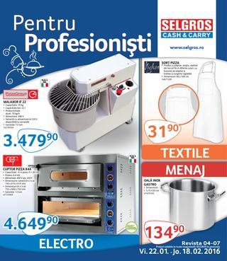 Selgros catalog Profesionisti - 22 Ianuarie - 18 Februarie 2016