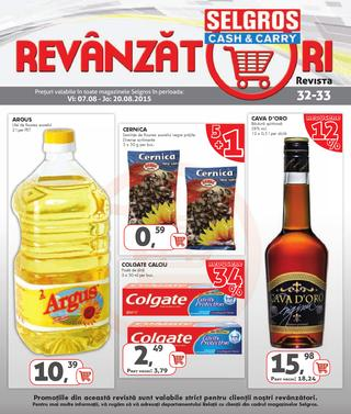 Selgros catalog revanzatori august 2015
