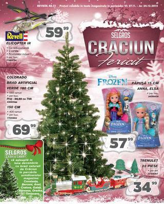 Selgros catalog jucarii si decoratiuni de Craciun - 27 noiembrie - 24 decembrie 2015