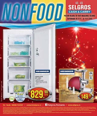 Selgros catalog non-food 27 noiembrie - 10 decembrie 2015
