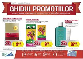 SensiBlu catalog Ghidul Promotiilor - Octombrie 2015