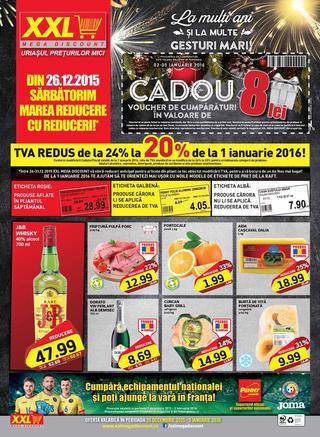 XXL mega discount Cadou 8 Lei - 26 Decembrie 2015 - 5 Ianuarie 2016