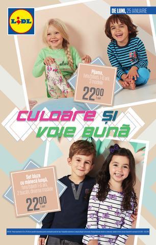 Lidl catalog Culoare si voie buna 25-31 Ianuarie 2016