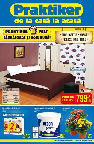 Praktiker catalog FEST - 9 Septembrie - 29 Septembrie 2015