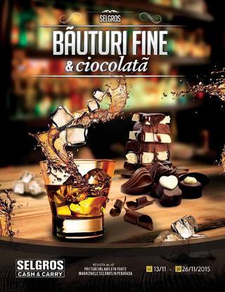 Selgros catalog Bauturi Fine si ciocolata - 12-26 Noiembrie 2015