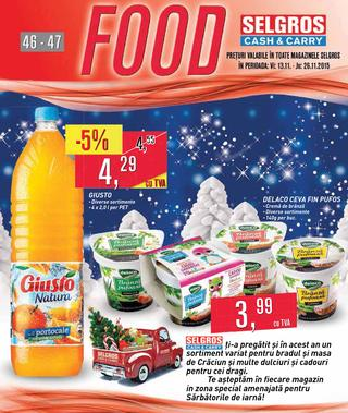 Selgros catalog FOOD - 12-26 Noiembrie 2015