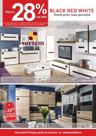 Promotia Black Red White vara - toamna  - catalog Sortem 2015
